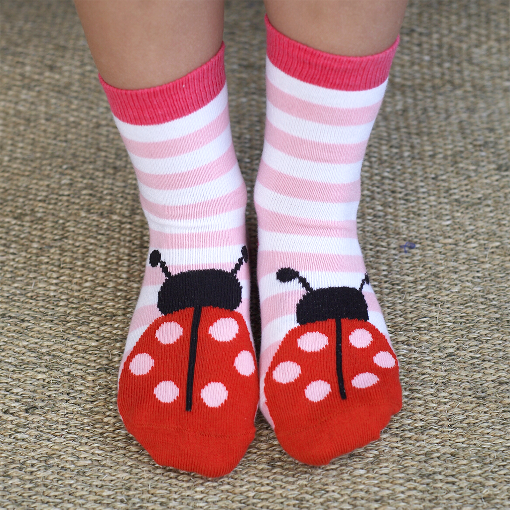 Cotton Ladybird Socks